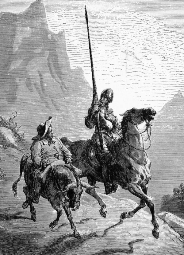 Don_Quijote_and_Sancho_Panza-by Gustav Dore