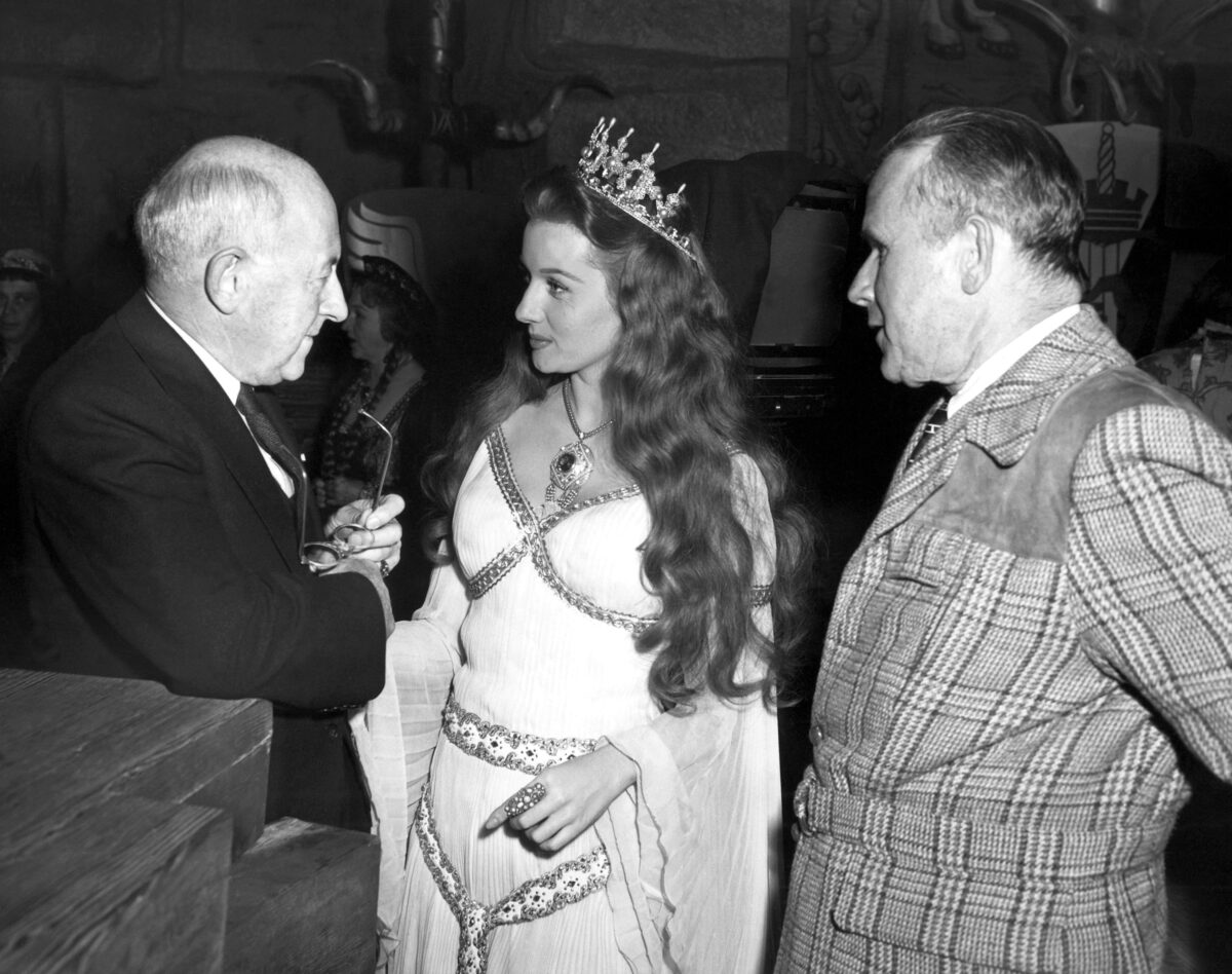 Cecil B. DeMille and Rhonda Fleming