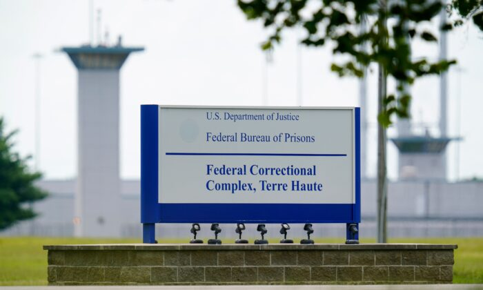 The federal prison complex in Terre Haute, Ind., on Aug. 28, 2020. (Michael Conroy/AP Photo)