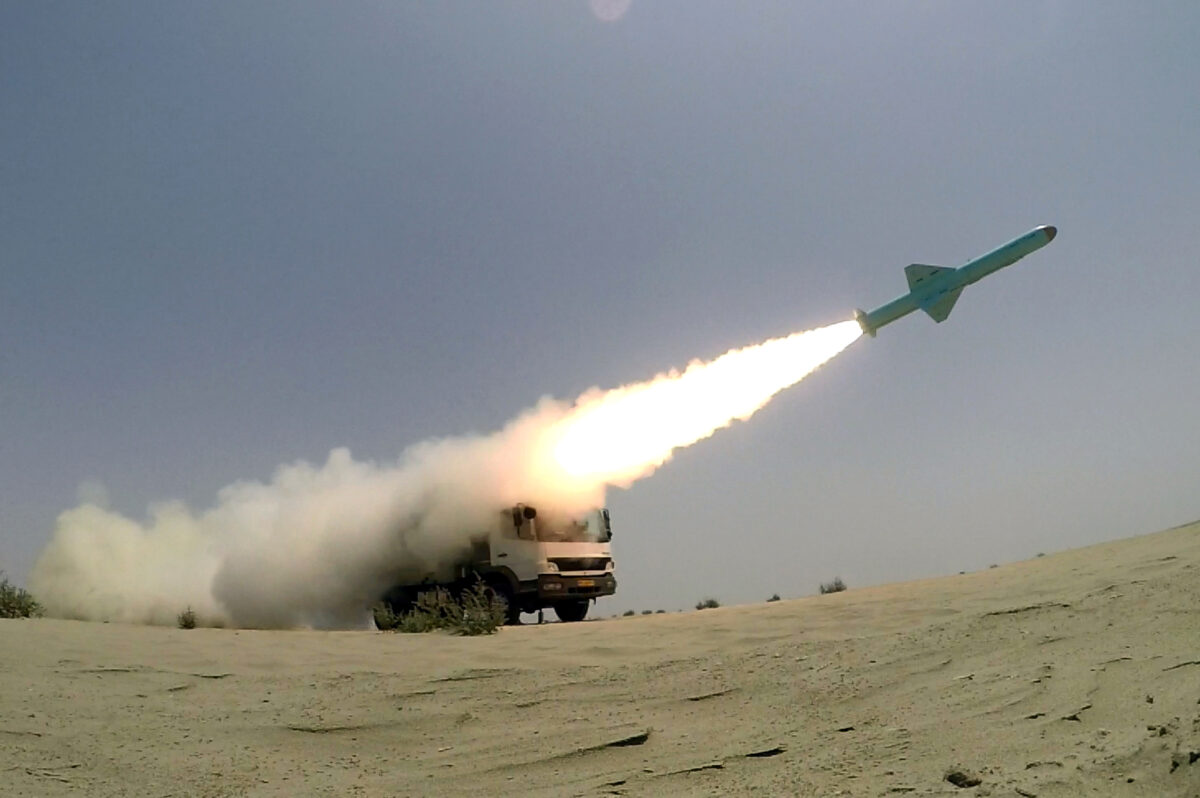 An Iranian cruise missile