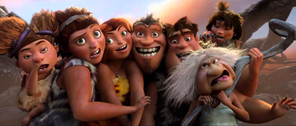 "family of cave people in ""The Croods"""