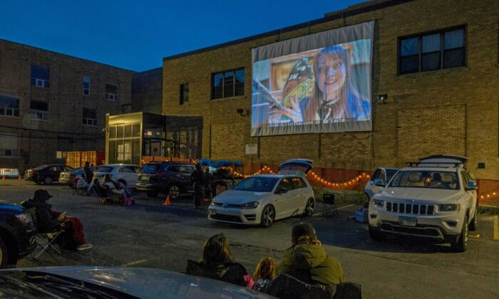Enjoy an old-fashioned drive-in experience with the kids. See Beatrix Potter on Chicago Children's Theatre's outdoor screen. (Charles Osgood)