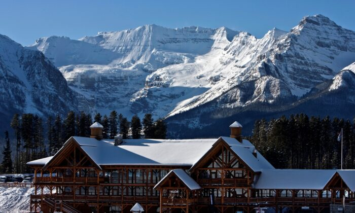A morning view of the Whiskey Jack Lodge at the foot of the ski hills in Lake Louise, Alberta situated in Banff National Park in the Canadian Rockie Mountains in a file photo.     (Reuters/Andy Clark)