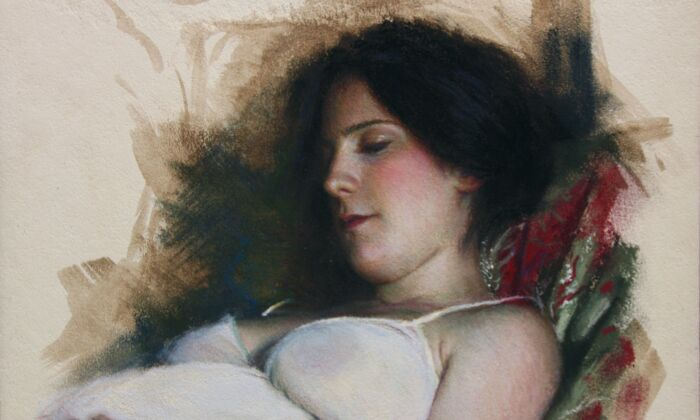 "Detail of ""Dreams 2,"" by Rubén Belloso. Pastel; 15.5 inches by 11.63 inches. (Courtesy of Rubén Belloso)"