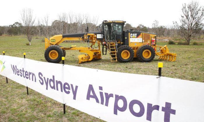 A general view is seen in preparation for the Western Sydney airport on September 24, 2018 in Sydney, Australia. (Mark Kolbe/Getty Images)