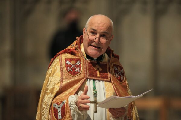 Stephen Cottrell, the 98th Archbishop of York, takes a service of evensong