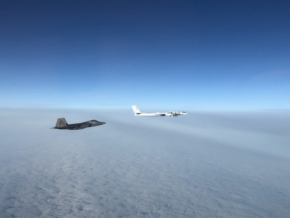NORAD F22 intercept Russian bomber01