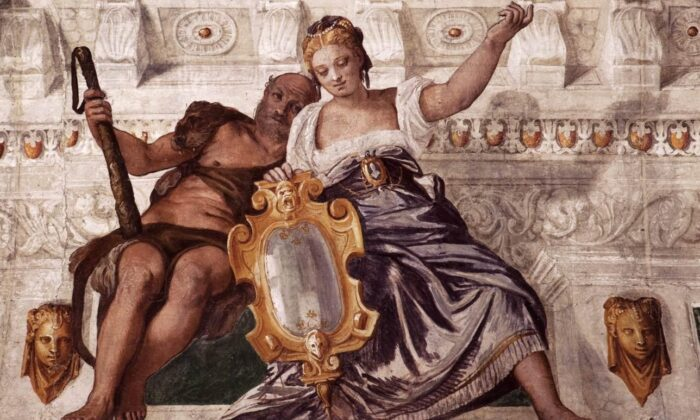 """""""Prudence and Manly Virtue"""" by Paolo Veronese, 1560-1561. (Public domain)"""