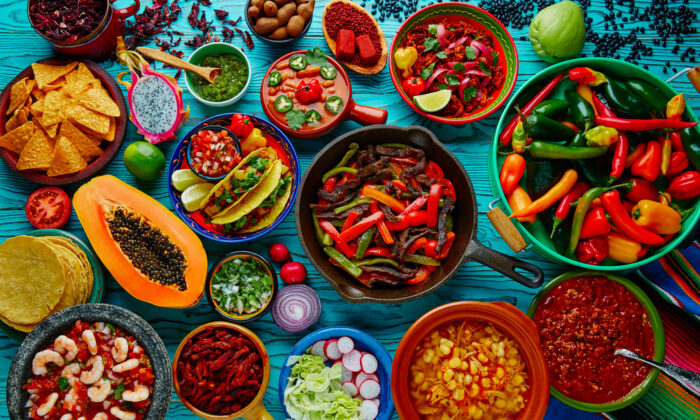 A colorful array of Mexican dishes and ingredients. (lunamarina/Shutterstock)
