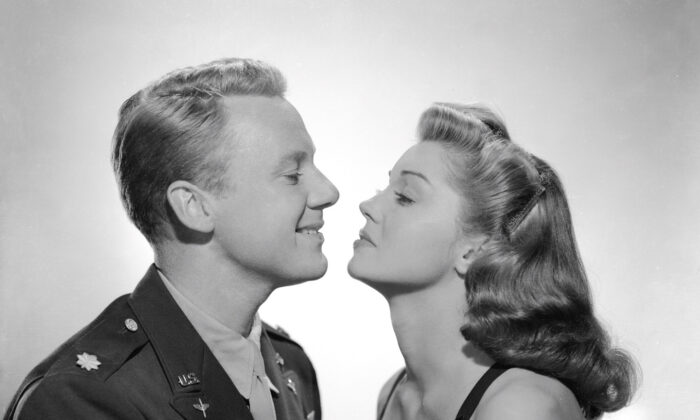 "A publicity shot for ""Thrill of a Romance,"" with heartthrob Van Johnson and swimming phenomenon Ester Williams. (MGM)