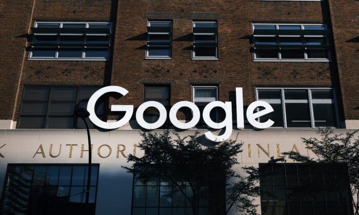 Google's offices stand in downtown Manhattan, N.Y., on Oct. 20, 2020. (Spencer Platt/Getty Images)