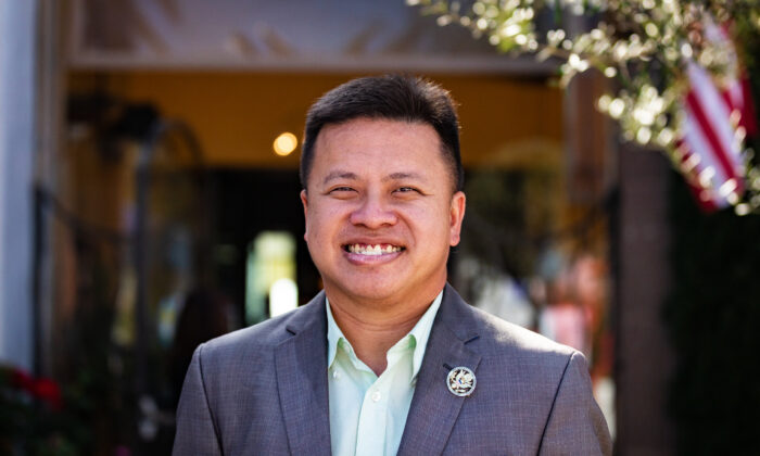 Marc Ang, president of the Chinese American Citizens Alliance, in Dana Point, Calif., on Oct. 20, 2020. (John Fredricks/The Epoch Times)