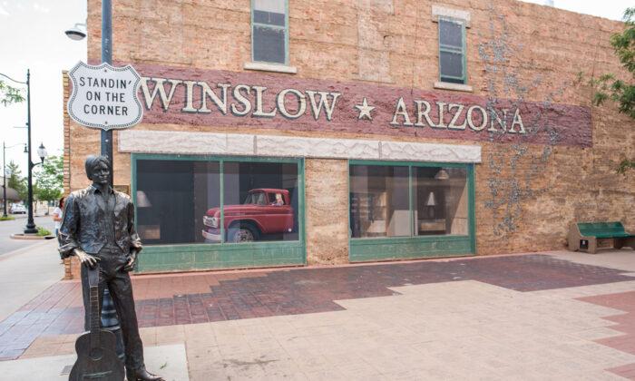 The famed corner in Winslow, Arizona. (Michael Gordon/Shutterstock)