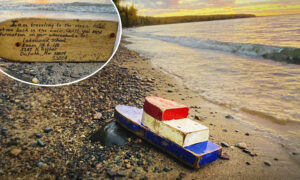 Couple Find Toy Boat With a Note Washed Ashore After 27 Years, Track Down Its Sender