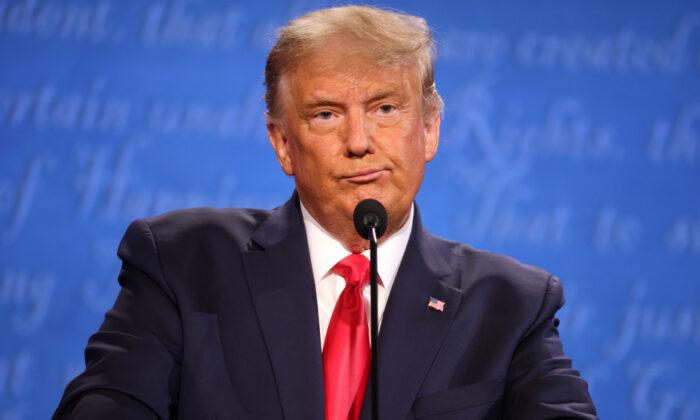 U.S. President Donald Trump participates in the final presidential debate against Democratic presidential nominee Joe Biden at Belmont University on Oct. 22, 2020 in Nashville, Tenn. (Justin Sullivan/Getty Images)