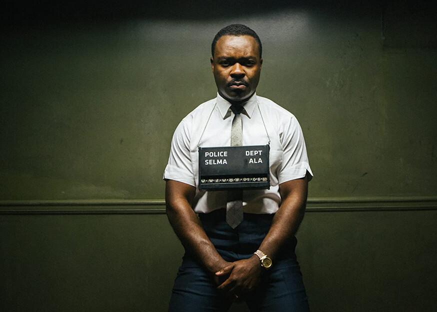 """man taking mugshot in """"Selma"""""""