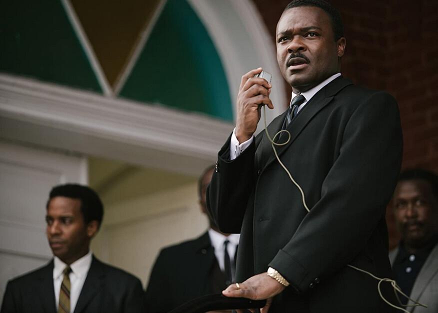 """man giving speech in """"Selma"""""""