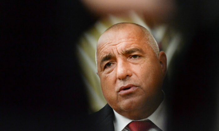 Bulgaria's Prime Minister Boyko Borissov arrives for the European Union leaders' face-to-face summit in Brussels, Belgium, on Oct. 16, 2020. (Johanna Geron/Pool/Reuters)