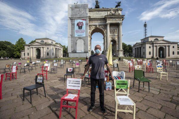 Italy lockdown protest