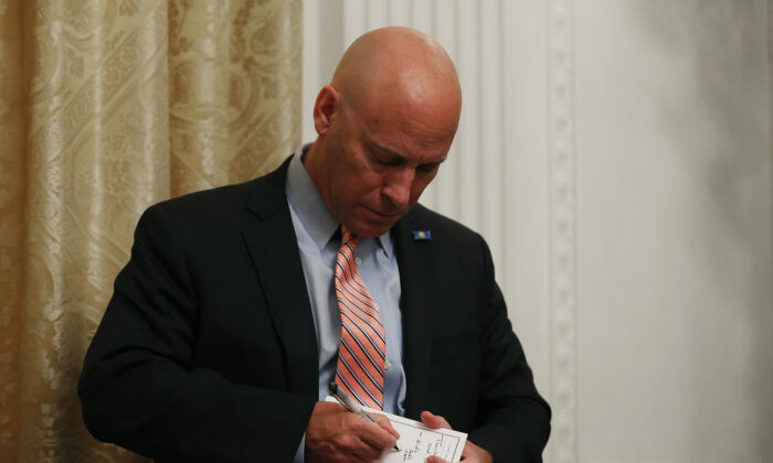 Marc Short, Chief of Staff to Vice President Mike Pence, in the East Room at the White House in Washington on July 7, 2020. (Chip Somodevilla/Getty Images)