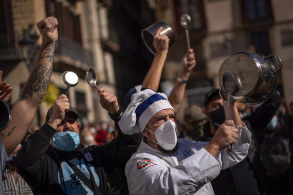 Spain restaurant protest
