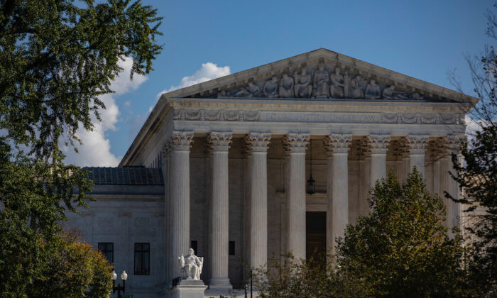 """The Supreme Court in Washington on Oct. 22, 2020. (Samuel Corum/Getty Images)"