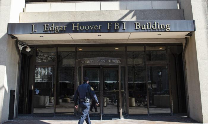 FBI's J. Edgar Hoover Building in Washington on April 3, 2019. (Eric Baradat/AFP via Getty Images)