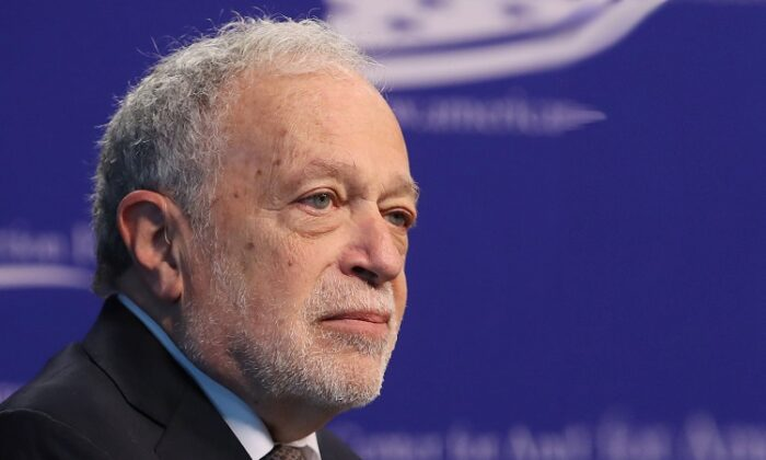 Former U.S. Labor Secretary Robert Reich participates in a discussion at the Center for American Progress Action Fund, in Washington on March 5, 2019.  (Mark Wilson/Getty Images)