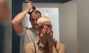 Moving Clip Shows Boyfriend Going Bald After Shaving Girlfriend's Head Due to Alopecia