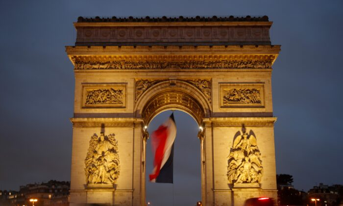 A view shows the Arc de Triomphe in Paris, on Oct. 27, 2020. (Charles Platiau/Reuters)