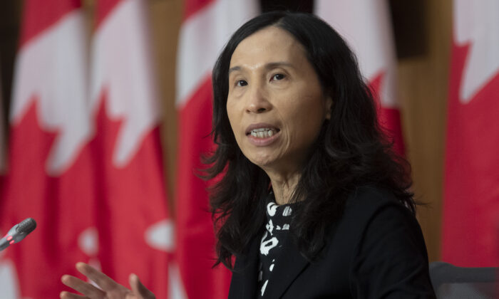 Chief Public Health Officer Theresa Tam responds to a question during a news conference in Ottawa, on October 28, 2020. (The Canadian Press/Adrian Wyld)