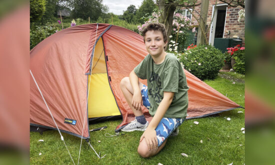 10-Year-Old Cub Scout Sleeps in Tent for 200 Days to Raise 86,000 Pounds for Local Hospice