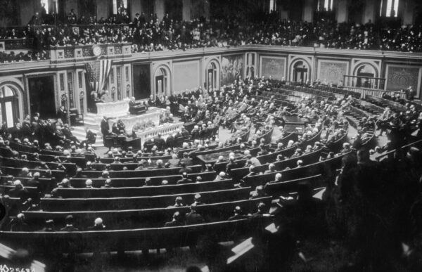 Woodrow wilson and Congress in 1918