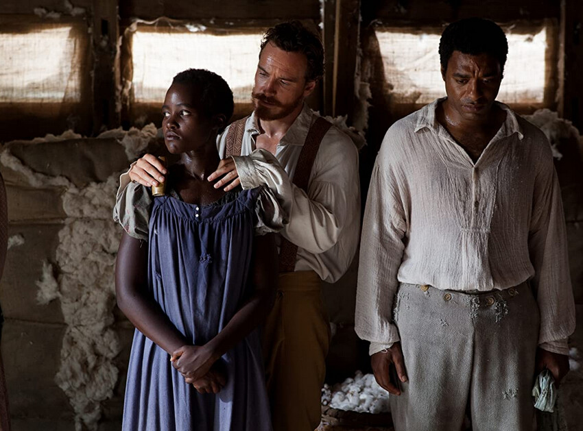 "Slave owner caresses slave girl in ""12 Years a Slave"""