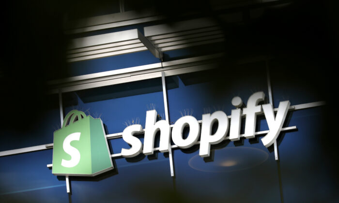 The logo of Shopify is seen outside its headquarters in Ottawa, on Sept. 28, 2018. (Reuters/Chris Wattie)