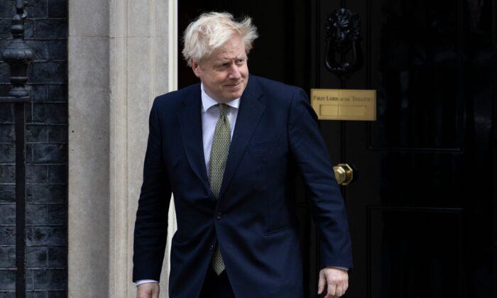 British Prime Minister Boris Johnson leaves 10 Downing Street on Oct. 22, 2020. (Dan Kitwood/Getty Images)