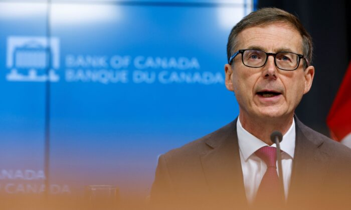 Bank of Canada Governor Tiff Macklem speaks during a news conference in Ottawa, on Oct. 28, 2020. (Reuters/Blair Gable)