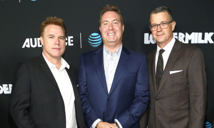 "(L-R) David Guillod, Bart Peters, and Mark Burg attend the AT&T AUDIENCE Network Premieres ""Loudermilk"" And ""Hit The Road"" in Los Angeles, Calif., on Oct. 10, 2017. (Tommaso Boddi/Getty Images for AT&T AUDIENCE Network)"