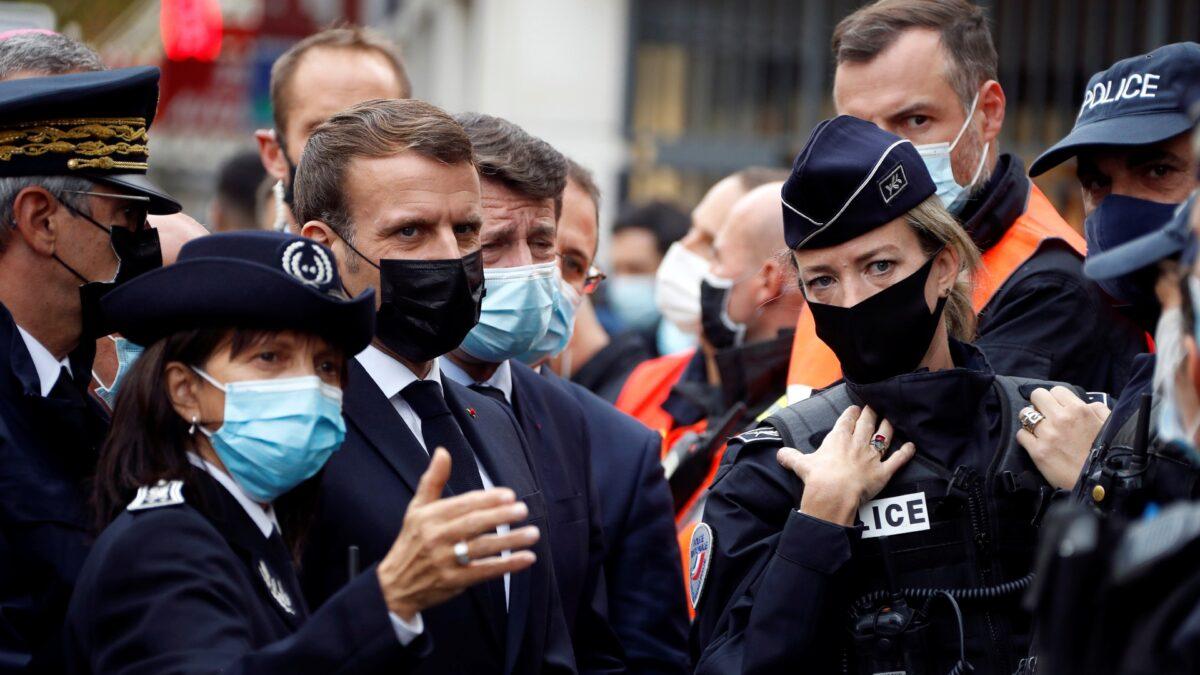 Emmanuel Macron and Christian Estrosi