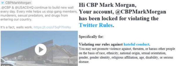 Twitter Suspends Acting CBP Chief Mark Morgan After Border Wall Tweet