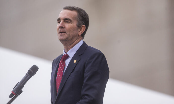 Virginia Gov. Ralph Northam speaks in Richmond, Virginia, on Dec. 10, 2019. (Zach Gibson/Getty Images)