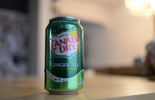 A can of Canada Dry Ginger Ale is shown in Toronto on, Oct. 29, 2020. (The Canadian Press/Joseph O'Connal)