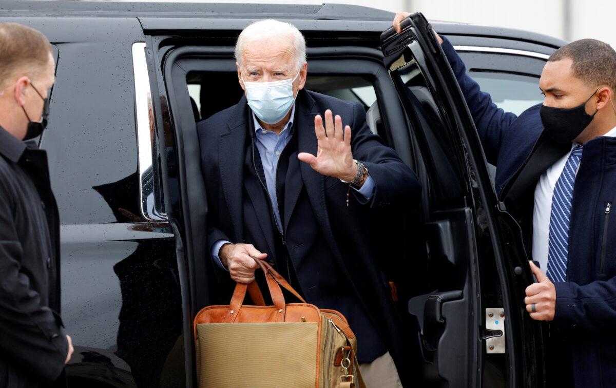 Joe Biden gestures