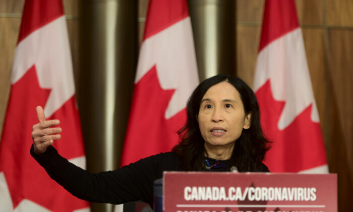 Chief Public Health Officer Dr. Theresa Tam provides an update on the COVID-19 pandemic during a press conference in Ottawa on Oct. 30, 2020. (Sean Kilpatrick/The Canadian Press)