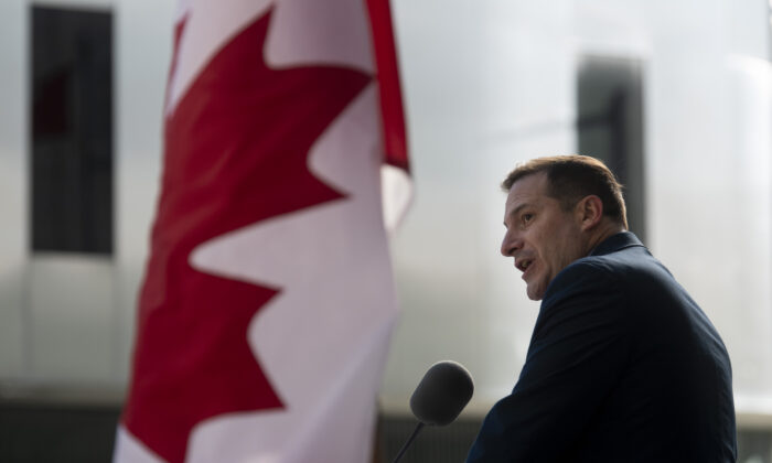 Immigration Minister Marco Mendicino speaks during an announcement in Ottawa on Oct. 30, 2020. (Adrian Wyld/The Canadian Press)