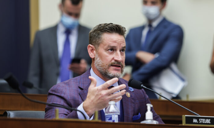 Rep. Greg Steube (R-Fla.) speaks during the House Judiciary Subcommittee on Antitrust, Commercial, and Administrative Law hearing on Online Platforms and Market Power in Washington on July 29, 2020. (Graeme Jennings-Pool/Getty Images)