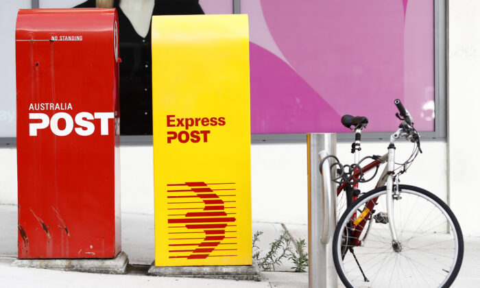 Australia Post mailboxes in Coogee, Sydney, Australia on Oct. 28, 2020. (Ryan Pierse/Getty Images)