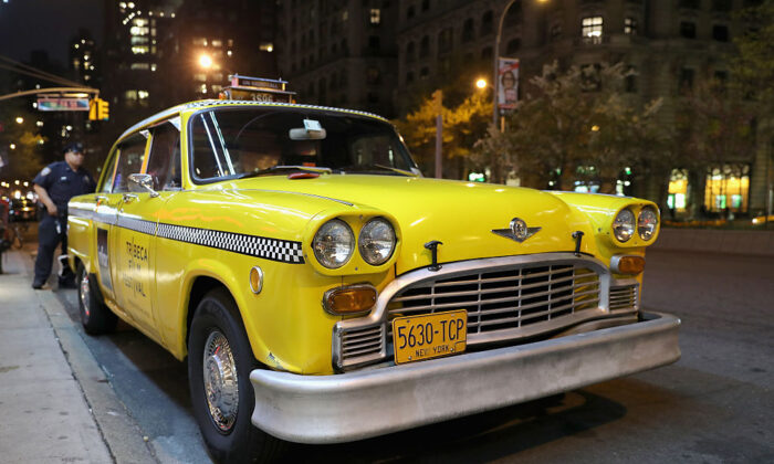 A vintage taxi cab in New York City on April 21, 2016.  (Neilson Barnard/Getty Images)