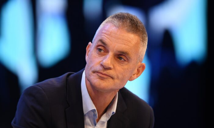 Tim Davie, then-CEO of BBC studios attends the annual CBI conference, in London, on Nov. 18, 2019. (Leon Neal/Getty Images)