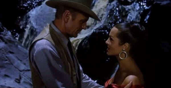 Gary Cooper and Sara Montiel in Vera Cruz